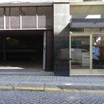 Hotel entrance & garage (free parking)