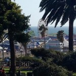 view of Santa Monica Pier from our room.