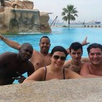 Jalcdoha team at the pool