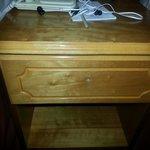 Bedside cabinet missing its handle