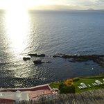 Vista para o mar e área privada da praia
