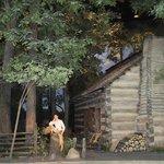Lincoln's log cabin, Lincoln Museum, Springfield, IL