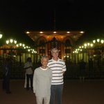Scenic lighting at Al Alam Royal Palace in Muscat