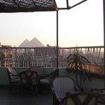 最上階にあるレストランPANORAMA(屋外)からの眺め