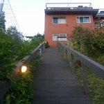 Escalinatas de la entrada