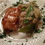 Miso Ginger Marinated Salmon with Sesame-Cilantro Rice