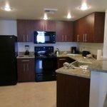 same kitchen in both suites.