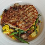 Bourbon Glazed Porterhouse Pork Chop