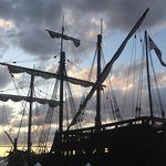 replica of Pinta there for a few weeks