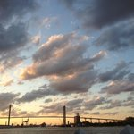 Sunset from the free ferry dock