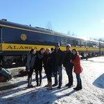 The Alaska Railway and our tour group