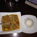 my Massamun Beef curry and rice