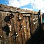 The bunkhouse door