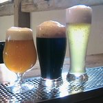 Bodacious Bock, Mystical Stout and White Bark Wheat Ale