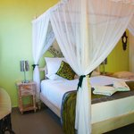 One of the bedrooms in Frangipani