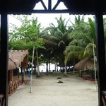 The view to the beach from the restaurant
