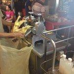 Making sugarcane juice