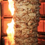 The famous Shawarma - fire