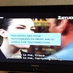 Random pop up from the hotel's cable provider
