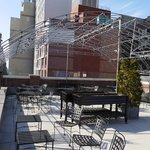 rooftop bar area open in Summer