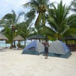 Two tents on the beach