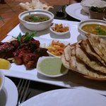 Tandoori Chicken and naan at Spice Restaurant