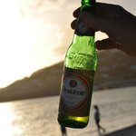 una birra al tramonto