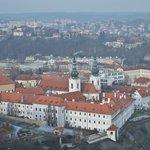 Вид с башни на Страговский монастырь