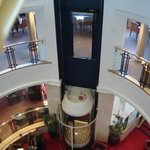 glass lift to rooms