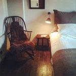 rocking chair and sheepskin (room12)