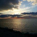 beautiful view of sun setting