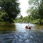 baignade à la rivière