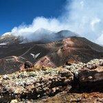 Этна отдыхает, у нее перекур (бабочка - это обнажившийся ледник)