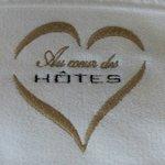 Broderie sur les serviettes de bain