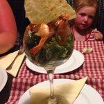 Generous starter of 8 juicy king prawns��