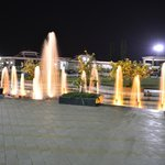 Fountains in the resort grounds