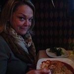 Diane had the Chicken Parmigiana