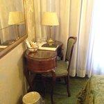 Small desk in the room