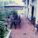 Our cozy patio, perfect for enjoying an afternoon drink
