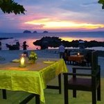 Sunset at the island View restaurant koh samui