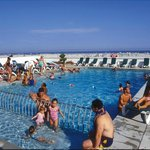 The beachfront olympic size swimming pool at the Regal Plaza Beach Resort in Wildwood Crest, NJ