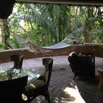 Lanai area of our villa