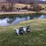 By the Pond - perfect chairs for relaxing!