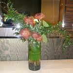 Nice flower arrangements in foyer