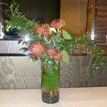 Nice flower arrangements in foyer