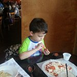 TS make your own kids pizza...add the cheese and pepperoni