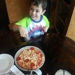 TS make your own kids pizza...Voila! Perfect kids pizza!!