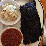 Rib dinner at Smokehouse
