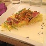 Filet de rouget avec son riz safrané