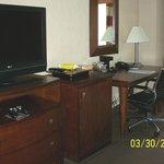 TV, Refrigerator and Desk